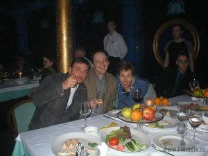 Артём Демин, Василий Горбунов и Ксения Стриж (Радио Шансон)